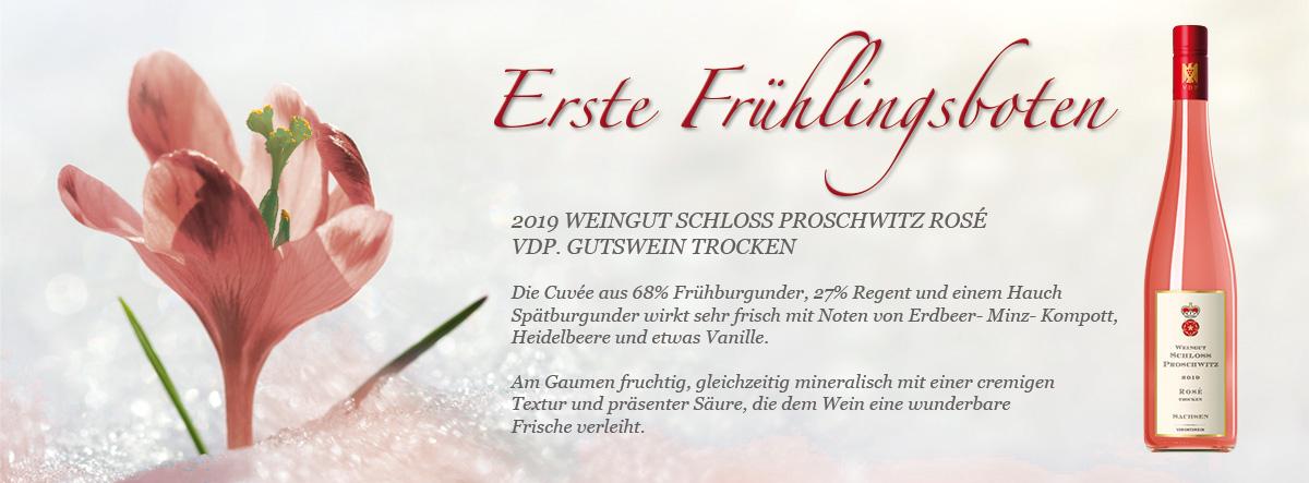 Schloss Proschwitz - 2019er Rosé - Frühlingsboten für Ihren Gaumen